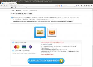 電子マネーWebMoney(ウェブマネー) - クレジットカードを利用した購入方法 - Mozilla Firefox_010